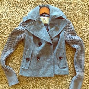 Burberry double breasted coat. Size 2
